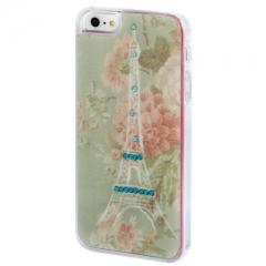 Чехол для iPhone 5S с Эйфелевой башней со стразами