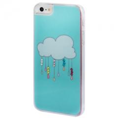Чехол Облачко для iPhone 5S со стразами