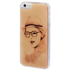 Чехол с Девушкой2 для iPhone 5 со стразами