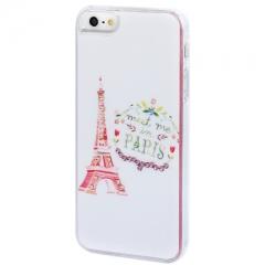 Чехол для iPhone 5 Эйфелева башня со стразами