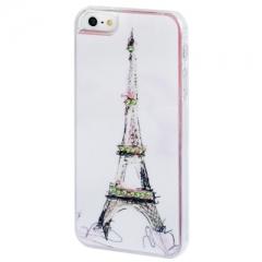 Чехол Эйфелева башня для iPhone 5S со стразами