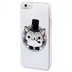 Чехол Кот для iPhone 5S со стразами