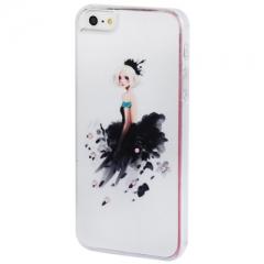 Чехол Девочка 1 для iPhone 5S со стразами