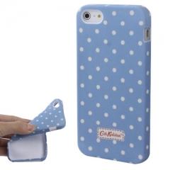 Чехол Cath Kidston для iPhone 5 голубой в горошек