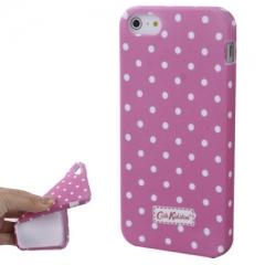 Чехол Cath Kidston для iPhone 5 розовый в горошек