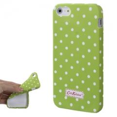 Чехол Cath Kidston для iPhone 5 салатовый в горошек
