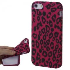 Чехол Леопардовый для iPhone 5S розовый