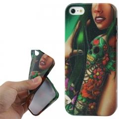 Чехол силиконовый Tatoo Girl для iPhone 5