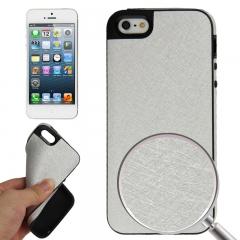 Чехол силиконовый для iPhone 5 серебряный