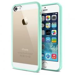 Чехол бампер SGP для iPhone 5s голубой