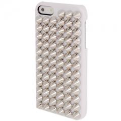 Чехол с серебряными шипами для iPhone 5S белый