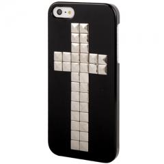 Чехол с клепками Крест для iPhone 5S черный