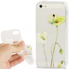 Чехол силиконовый для iPhone 5 Цветочек