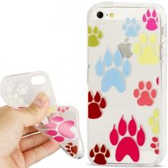 Чехол силиконовый для iPhone 5 След прозрачный