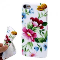 Чехол силиконовый с цветами для iPod Touch 5