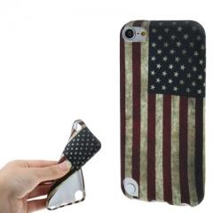 Чехол силиконовый Американский флаг для iPod Touch 5