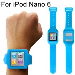 Чехол часы для iPod Nano 6 синий