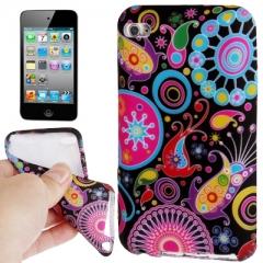 Чехол силиконовый с узором для iPod Touch 4