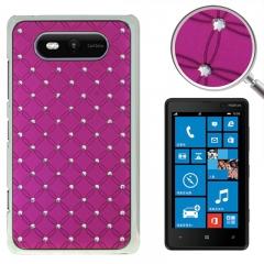 Чехол со стразами для Nokia Lumia 820 фиолетовый