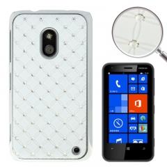 Чехол со стразами для Nokia Lumia 620 белый