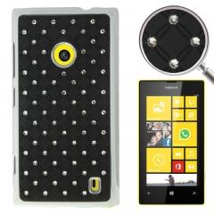 Чехол со стразами для Nokia Lumia 520 черный