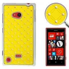 Чехол со стразами для Nokia Lumia 720 желтый