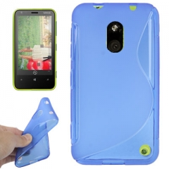 Чехол силиконовый для Nokia Lumia 620 синий
