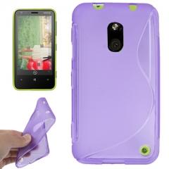 Чехол силиконовый для Nokia Lumia 620 фиолетовый