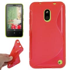 Чехол силиконовый для Nokia Lumia 620 красный