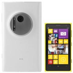 Чехол силиконовый для Nokia Lumia 1020 белый