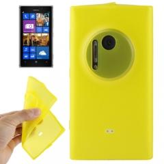Чехол силиконовый для Nokia Lumia 1020 желтый