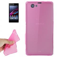 Чехол силиконовый для Sony Xperia Z1 mini розовый