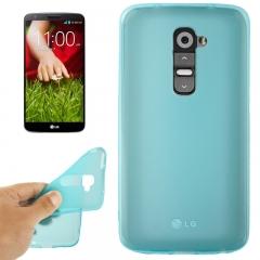 Чехол силиконовый для LG G2 голубой