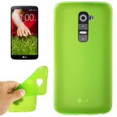 Чехол силиконовый для LG G2 зеленый