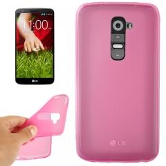 Чехол силиконовый для LG G2 розовый