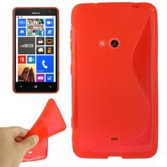 Чехол силиконовый для Nokia Lumia 625 красный