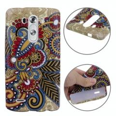 Чехол силиконовый для LG G3 Орнамент коричневый