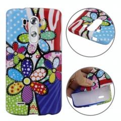Чехол силиконовый для LG G3 Цветы