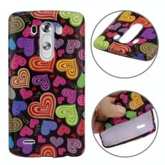 Чехол силиконовый для LG G3 Сердечки