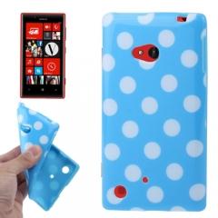 Чехол силиконовый для Nokia Lumia 720 голубой