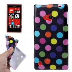 Чехол в горошек для Nokia Lumia 720 черный