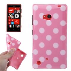 Чехол силиконовый для Nokia Lumia 720 розовый