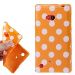 Чехол силиконовый для Nokia Lumia 720 оранжевый