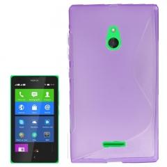 Чехол силиконовый для Nokia Lumia XL фиолетовый