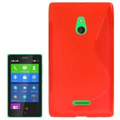 Чехол силиконовый для Nokia Lumia XL красный