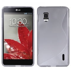 Чехол силиконовый для LG Optimus G серый