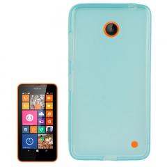 Чехол силиконовый для Nokia Lumia 630 голубой