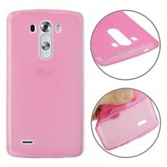 Чехол силиконовый для LG G3 розовый
