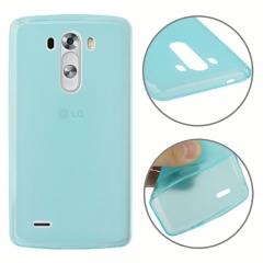 Чехол силиконовый для LG G3 голубой