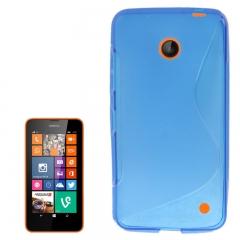Чехол силиконовый для Nokia Lumia 630 синий